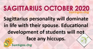 Sagittarius October 2020 Horoscope