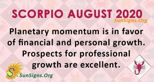 Scorpio August 2020 Horoscope