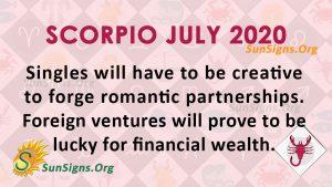 Scorpio July 2020 Horoscope