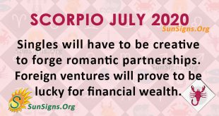 Scorpio July 2020 Horoscope
