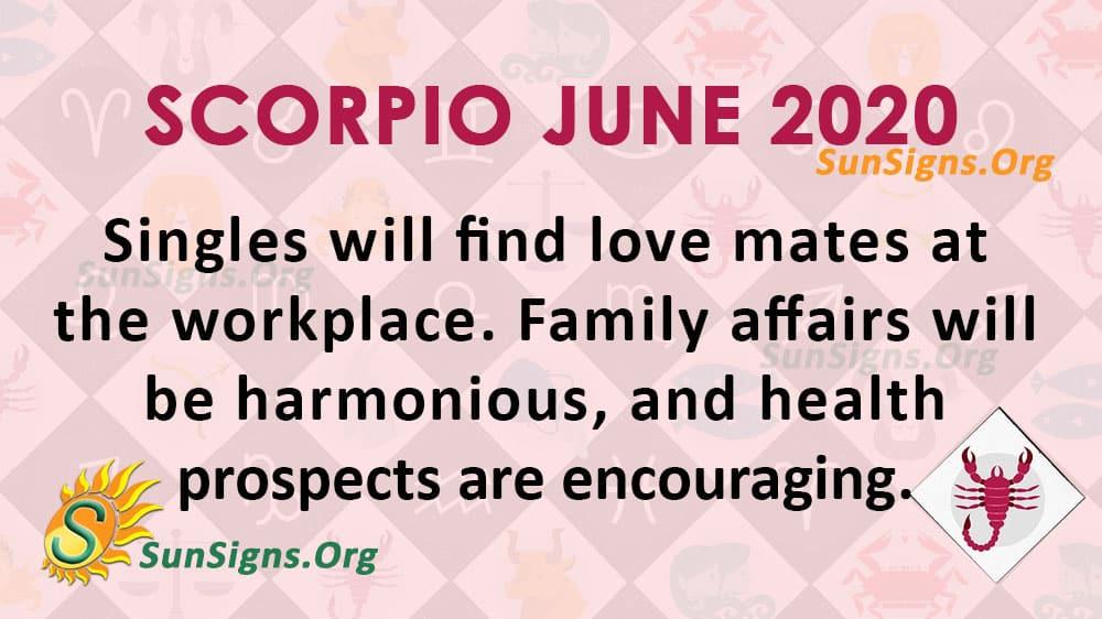 Scorpio June 2020 Horoscope