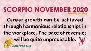 Scorpio November 2020 Horoscope