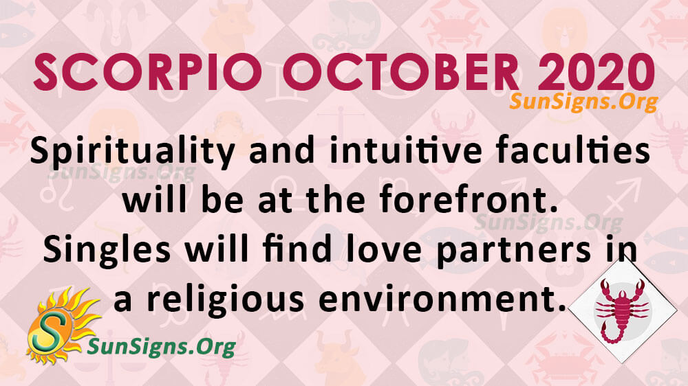 Scorpio October 2020 Horoscope