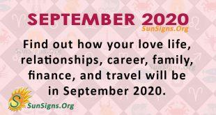 September 2020 Horoscope