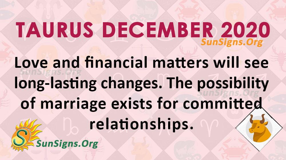 Taurus December 2020 Horoscope
