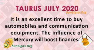 Taurus July 2020 Horoscope