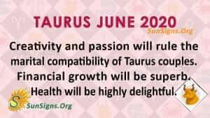 Taurus June 2020 Horoscope