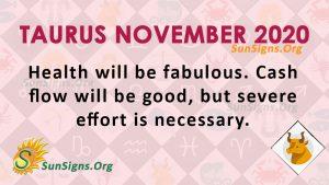 Taurus November 2020 Horoscope