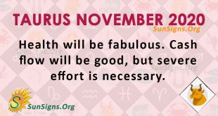 Taurus November 2020 Horoscope