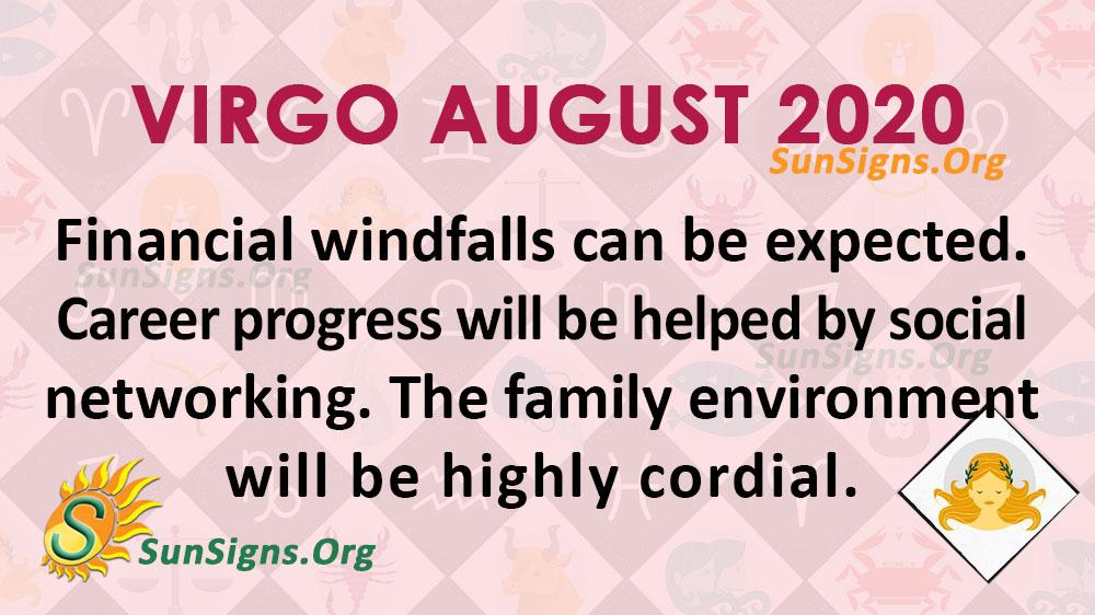 Virgo August 2020 Horoscope