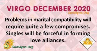 Virgo December 2020 Horoscope