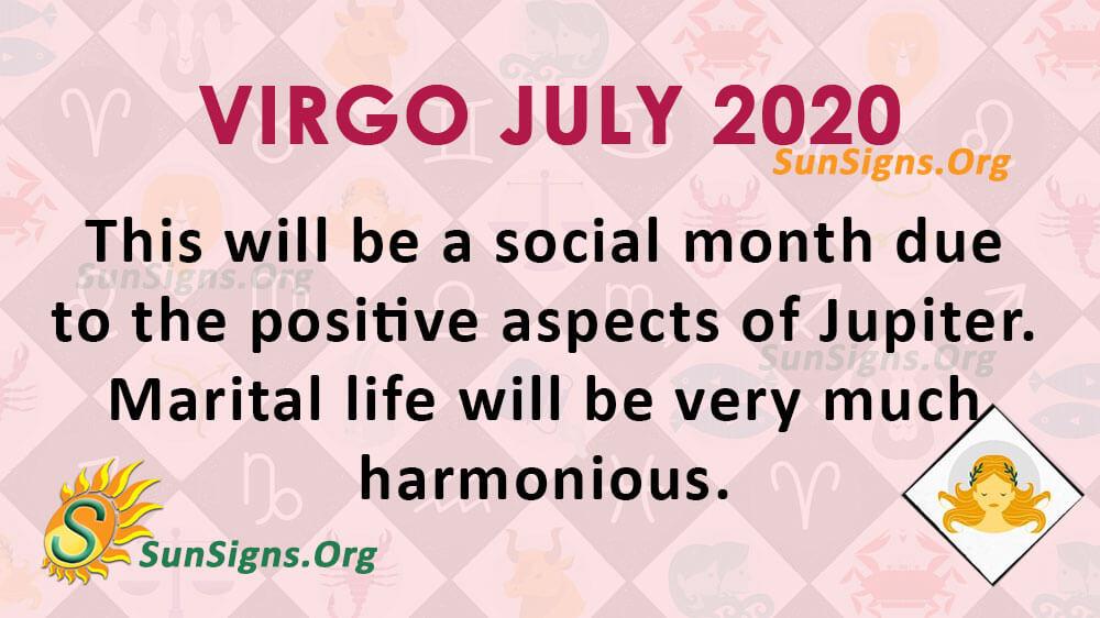 Virgo July 2020 Horoscope
