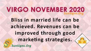 Virgo November 2020 Horoscope