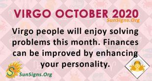 Virgo October 2020 Horoscope