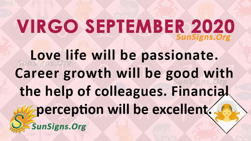 Virgo September 2020 Horoscope