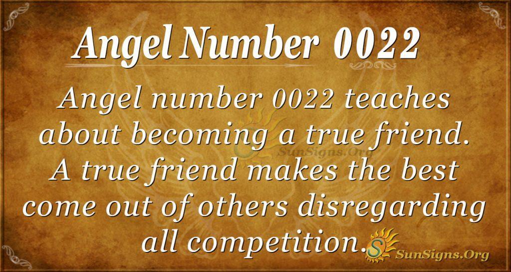 angel number 0022
