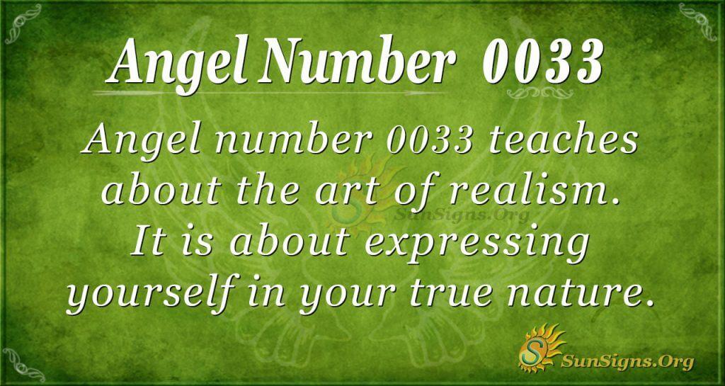 angel number 0033