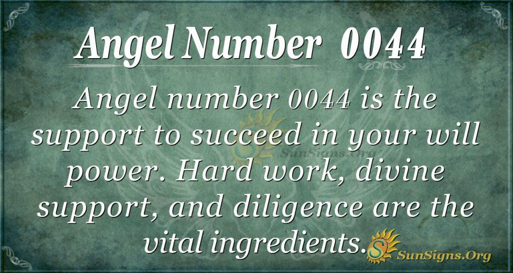 angel number 0044