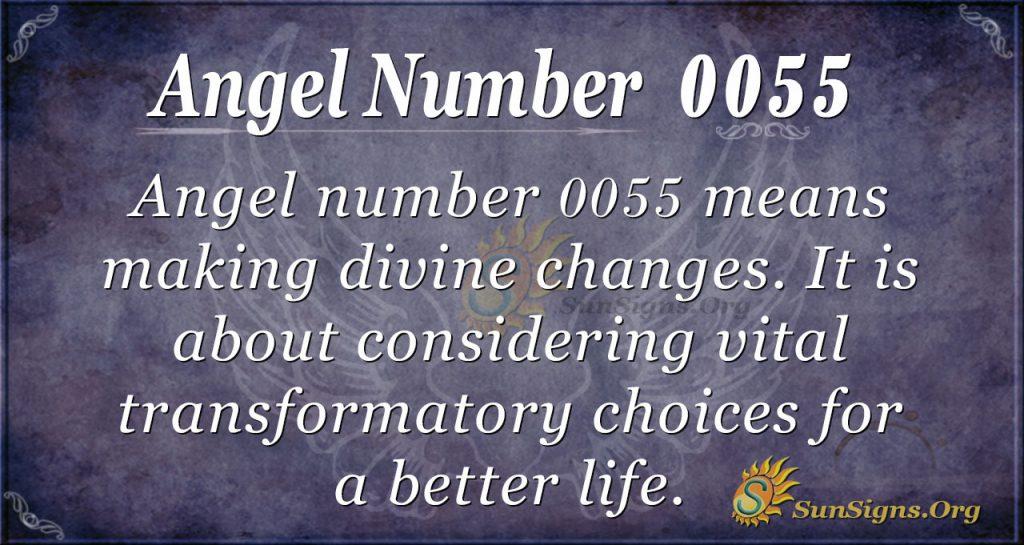 angel number 0055