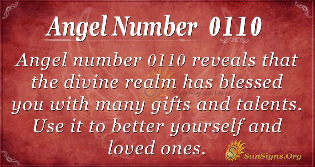 angel number 0110