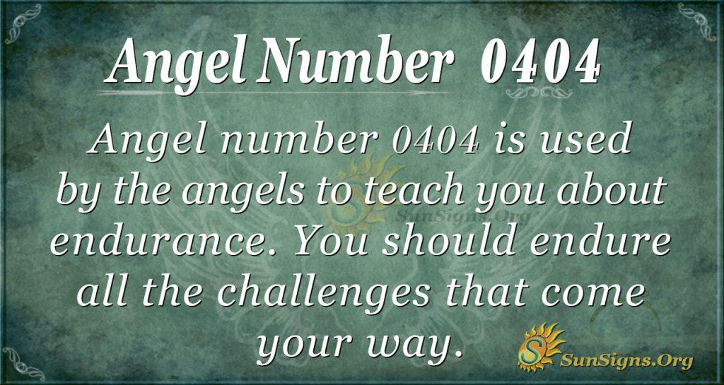 angel number 0404