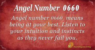 angel number 0660