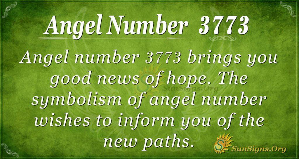 angel number 3773