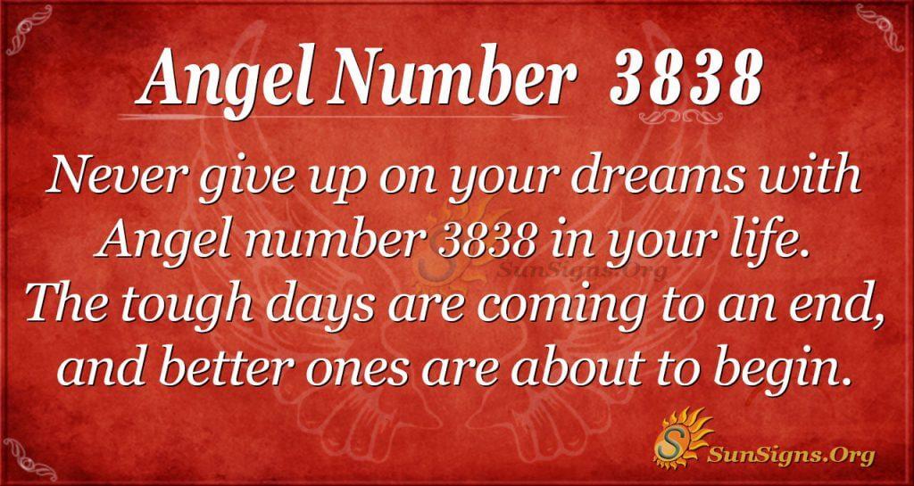 angel number 3838
