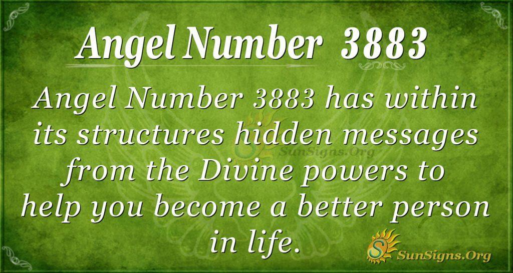 angel number 3883