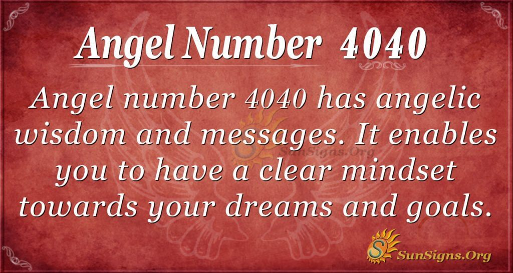 angel number 4040