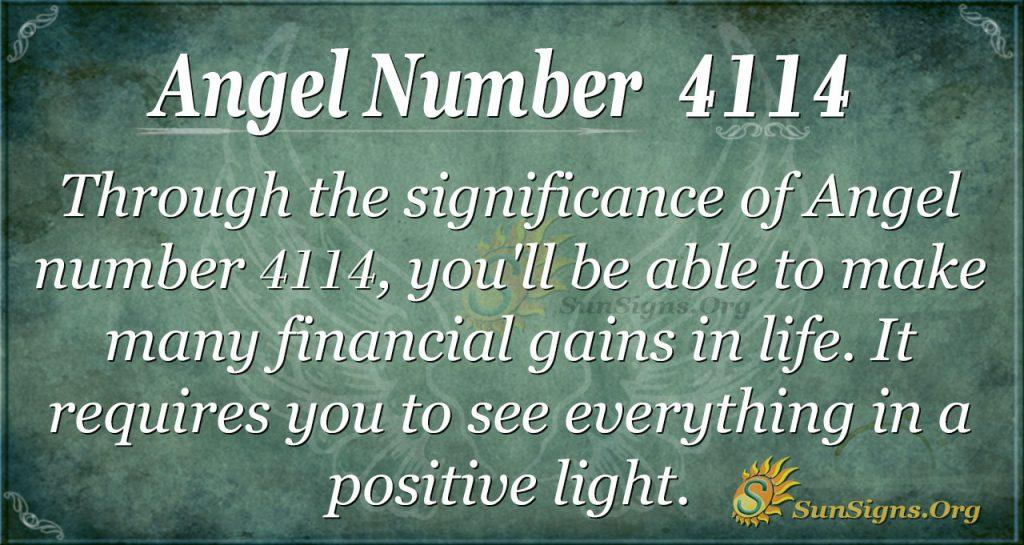 angel number 4114
