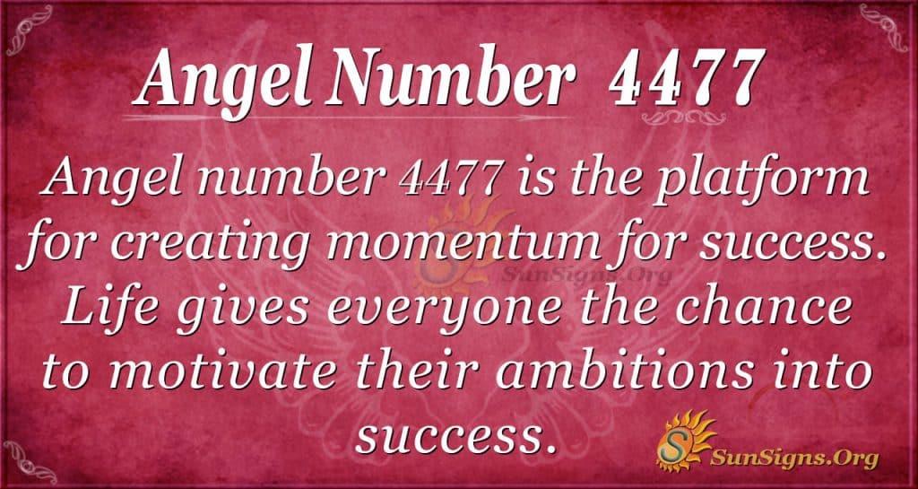 angel number 4477