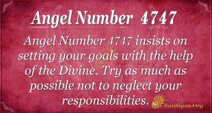 angel number 4747