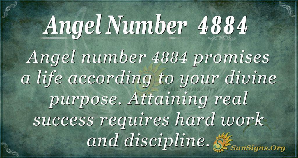 angel number 4884