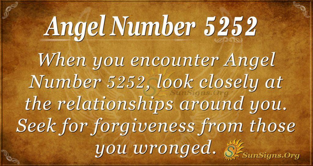 angel number 5252