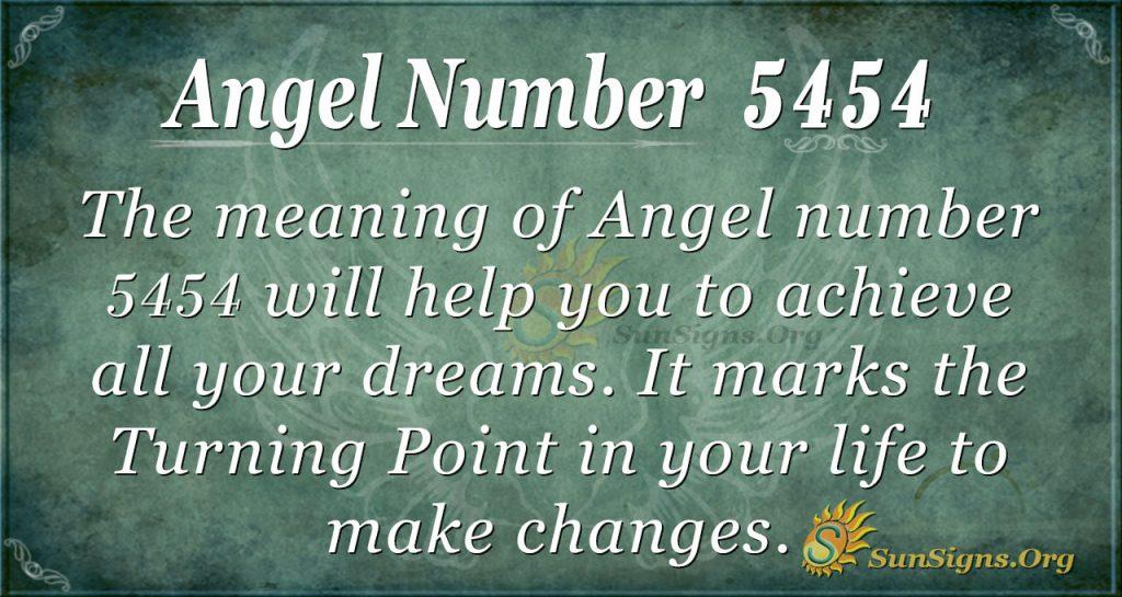 angel number 5454