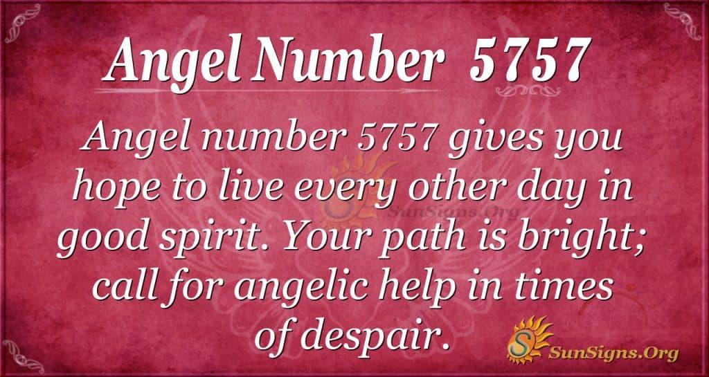 angel number 5757