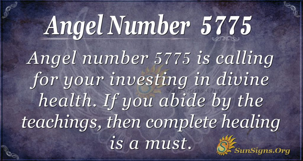 angel number 5775