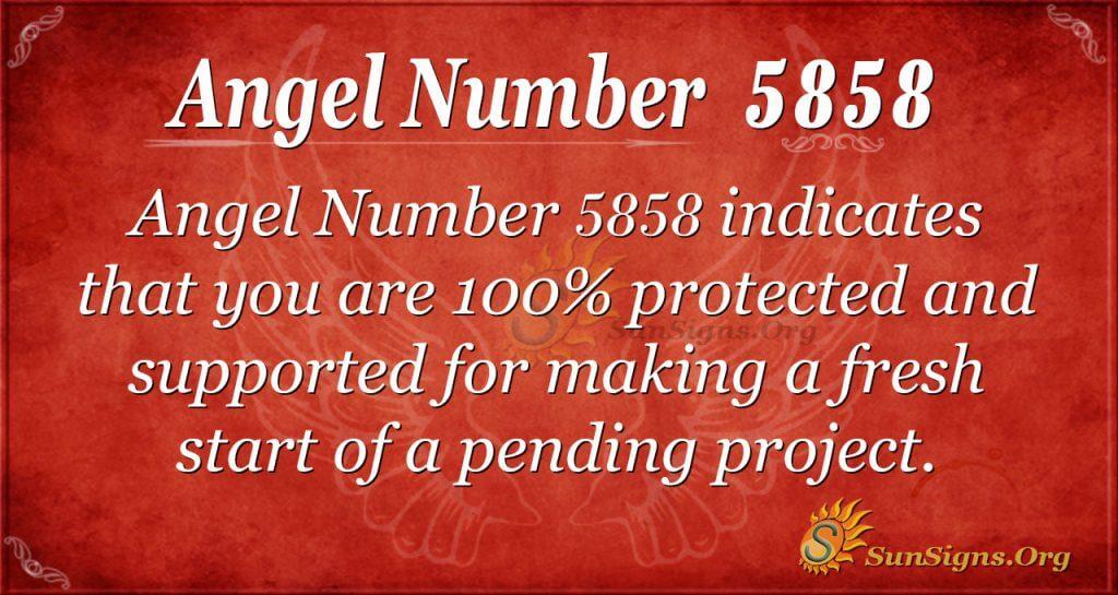 angel number 5858