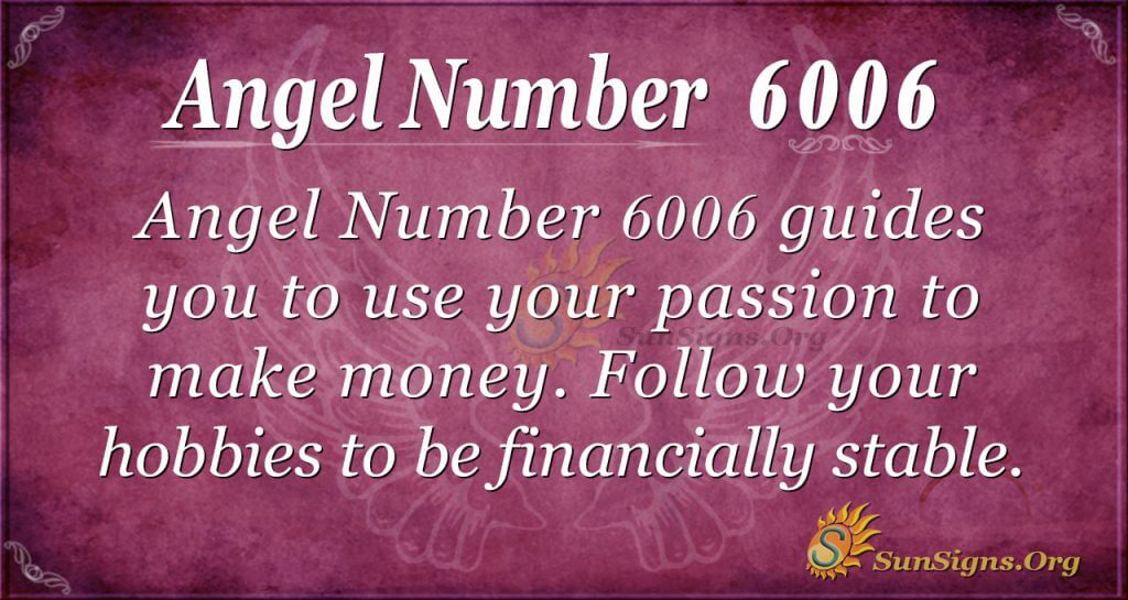 angel number 6006