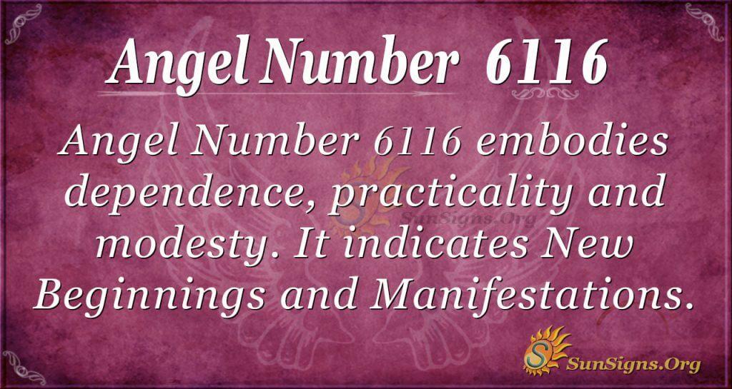 angel number 6116