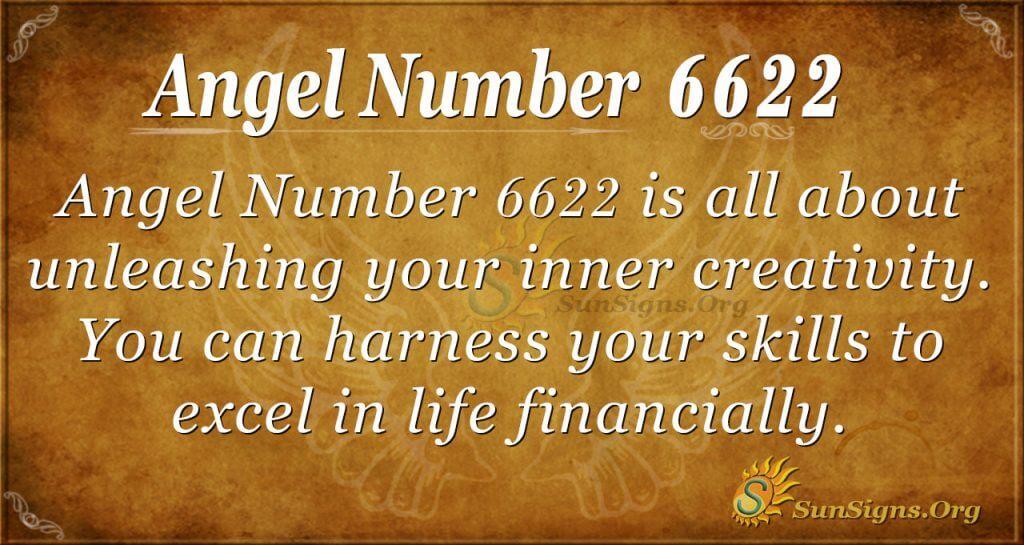 angel number 6622