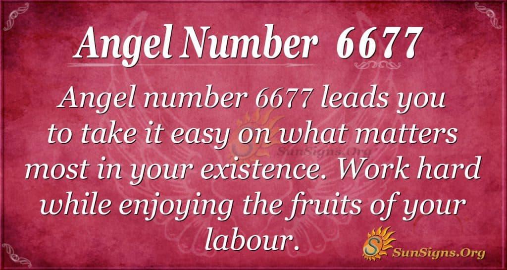 angel number 6677