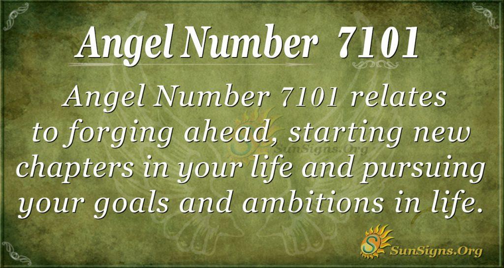 angel number 7101