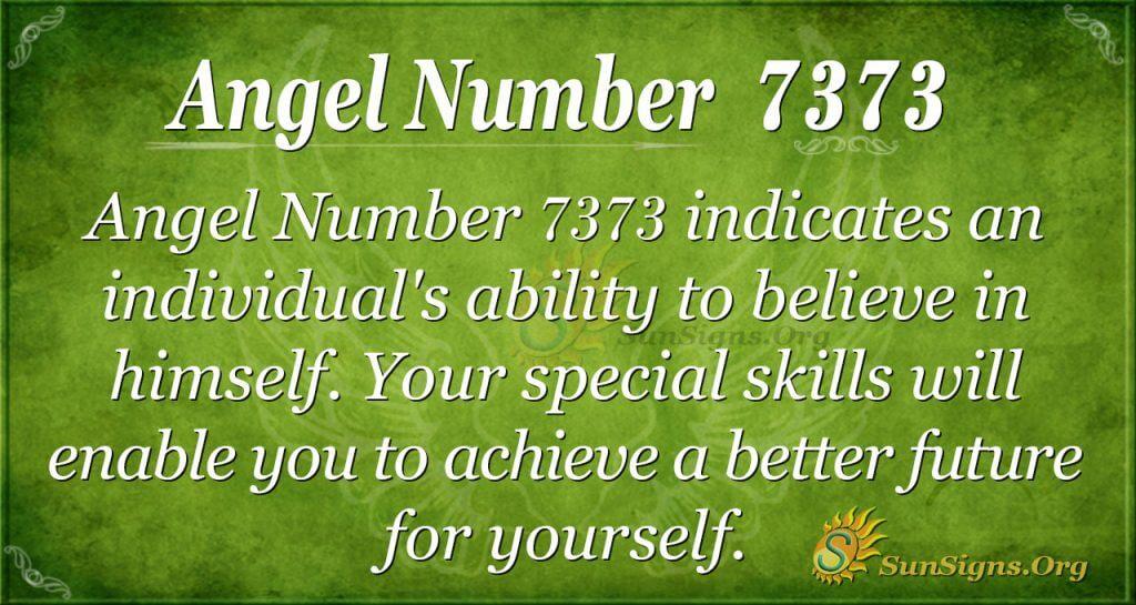 angel number 7373
