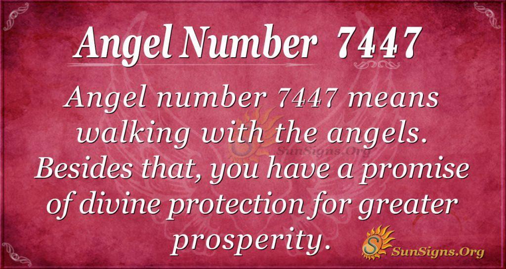 angel number 7447