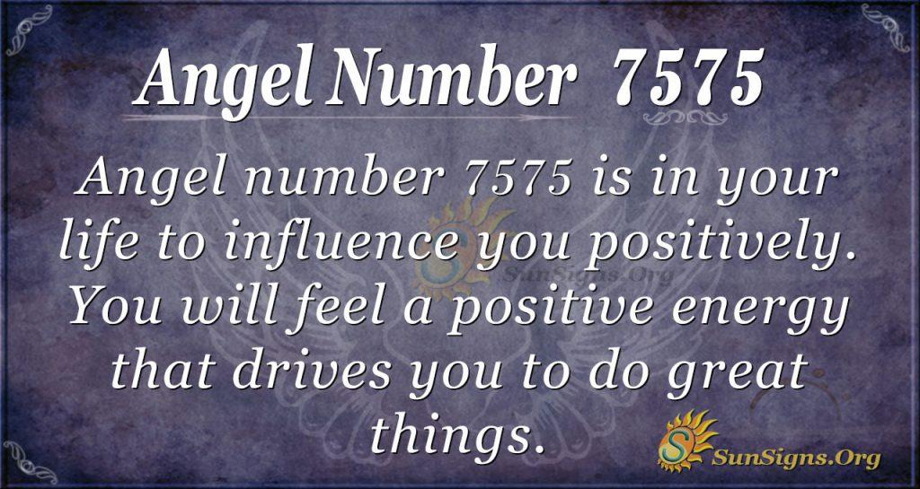 angel number 7575