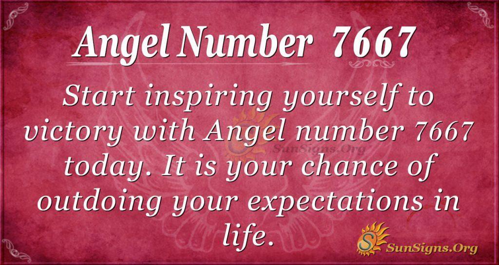 angel number 7667