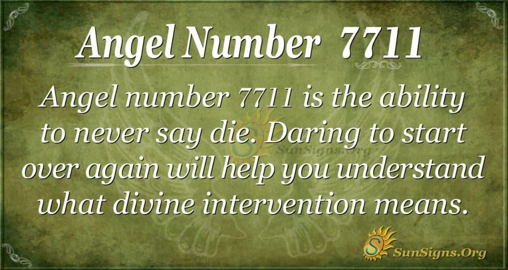 angel number 7711