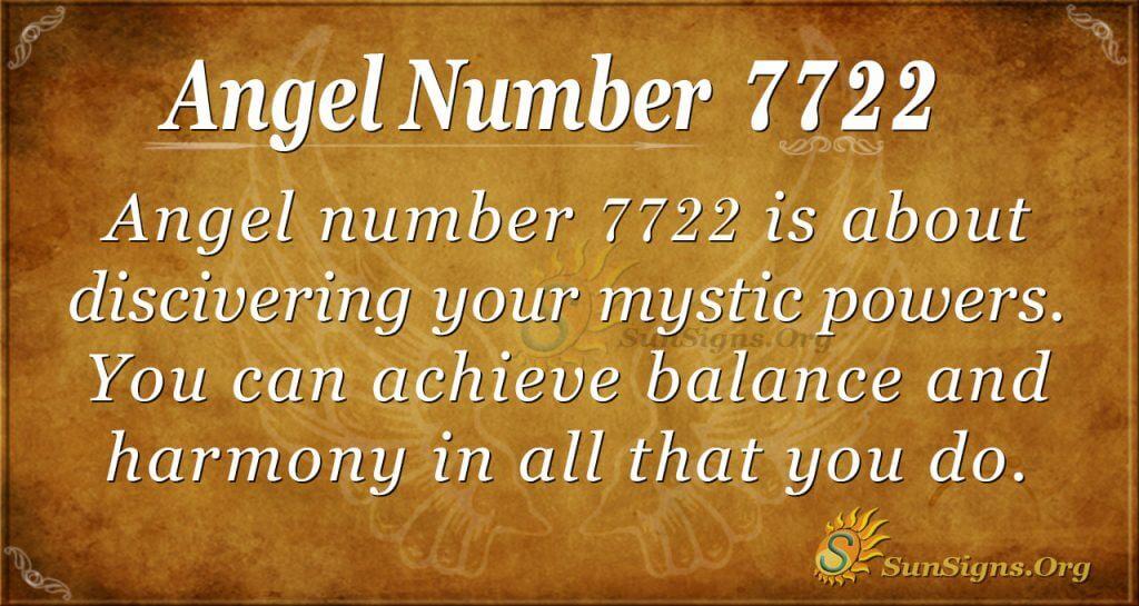 Angel Number 7722